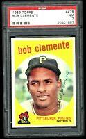 1959 Topps Roberto Clemente - HOF - Pirates - PSA 7 - NM - 20401697 - (SCA)