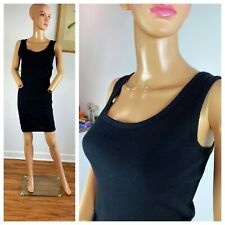 Vtg 80s United Colors of Benetton Wool & Acrylic Body Con Lbd Stretchy Dress S