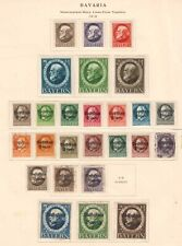 GERMANY BAVARIA 3 PAGES COLLECTION LOT 73 STAMPS