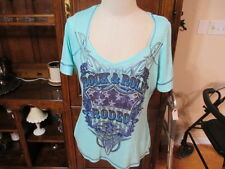 OneWorld short sleeve T shirt top XL women's bling sparkle pull over Rock Rodeo