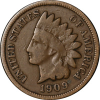 1909-S Indian Cent Nice VG+ Key Date Superb Eye Appeal Strong Strike