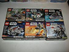 LEGO STAR WARS MICROFIGHTERS LOT OF 6 NIB