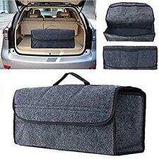 Car Grey Collapsible Cargo Trunk Organizer Storage  w/ Mesh Pockets Bag