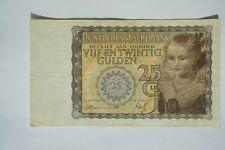"""2 * Nederland 25 Gulden; 1940 """"Prinsesje"""" en 1941 Mees"""