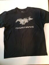 Ford Mustang 2XL Black Official T-Shirt Tee Horse Logo Car Spell Out 50/52
