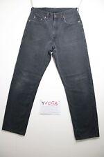 Levi's 615 Cod. Y1058 tg47 W33 L32 vaqueros usado vintage negro regular fit
