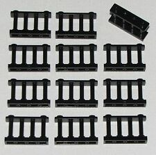 LEGO LOT OF 12 NEW BLACK SPINDLED FENCES WITH 2 STUDS ON TOP