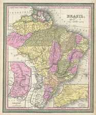 1849 Mitchell Map of Brazil, Paraguay and the Guianas