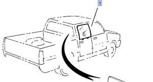 Door Window Rear Left fits Isuzu Pickup TF Chevrolet LUV Opel Campo Genuine