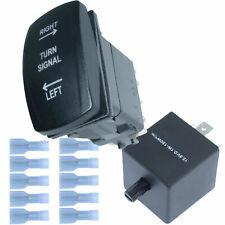 ATV UTV Rocker Switch Blue LEDs Blinker Turn Signal Kit With Led Flasher Relay
