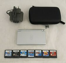 Nintendo DS Lite (Silver) Handheld System with Case; Charger and 7 Games - B11