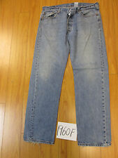 Used Levi 501 feathered grunge jean tag 38x34 meas 36x33 19601F