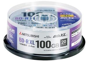 VBR520YP20SD4 Verbatim Blu-ray Disc 20 Spindle 100GB 4X Speed BD-R XL Printable