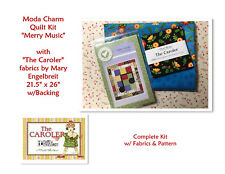 RARE Moda Fabric & Mary Engelbreit - MERRY MUSIC Charm Kit w/ Backing, Free Ship