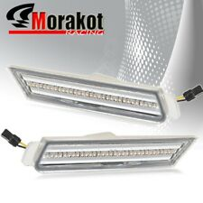Camaro 2010-2012 White LED Front Side Marker Light Clear Lens Chrome Housing