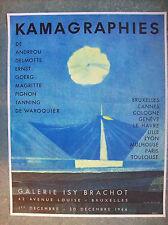 Affiche Max ERNST kamagraphies lithographie Mourlot Magritte 1966 surréalisme