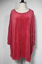 WOMAN WITHIN Women's Top T-Shirt Fuchsia 3/4 Sleeve Women's 3X NWT