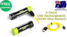 2Pack USB Rechargeable 18650 3.7V 1600mAh LiPoly Battery Games Console Camera RC