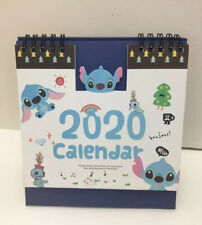 Kawaii blue LILO & STITCH ALOHA 2020 Desktop calendar Office Planner Christmas