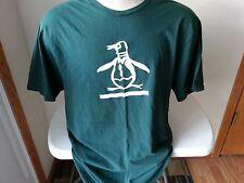 Penguin hunter green & white short sleeve T shirt - mens XXL