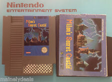 Milon's Secret Castle (Nintendo,NES) W/ Manual & Sleeve! Tested! Works!
