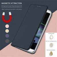 For Samsung Galaxy A6 A8+ J4 J6 2018 Case Magnetic Flip Wallet Leather Cover