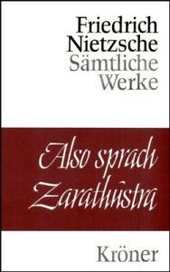 Friedrich Nietzsche Also sprach Zarathustra (Kröner Verlag, gebunden)