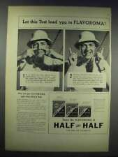 1938 Half and Half Tobacco Ad - This Test