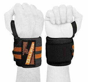 """Weight Lifting Training Wrist Wraps Cotton Bandage Hand Support Straps 18"""" PAIR"""
