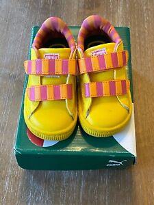 Puma Sesame Street Big Bird Toddler shoes size 6