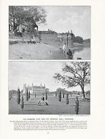 1897 Vittoriano Stampa ~ India Massacre Ghat Memoriale Well Cawnpore + Testo