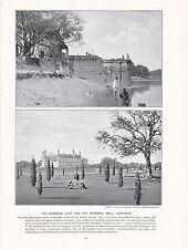 1897 VICTORIAN PRINT ~ INDIA MASSACRE GHAT MEMORIAL WELL CAWNPORE + TEXT