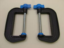 Pair of G-clamps 75mm new,British made,high strength nylon, crafts, models