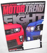 #6974 Motor Trend Magazine October 2012