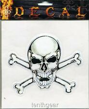 """DECAL STICKER SKULL AND CROSSBONE'S """"FREE SHIP"""""""