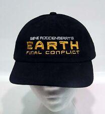 Star Trek Gene Roddenberry's Earth Final Conflict Cap/Hat- Lincoln Ent-Black