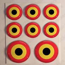 Belgium Stickers Cockade 3D Roundel Resin Domed Adhesive Air Force Sticker