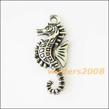 10 New Animal Hippocampus Tibetan Silver Tone Charms Pendants 12x29mm