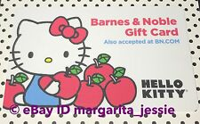 "BARNES & NOBLE GIFT CARD ""HELLO KITTY HOLDING APPLES"" NO VALUE NEW SANRIO 2014"