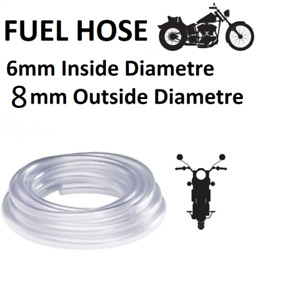 6mm Inside 8mm Outside Diameter Fuel Pipe Petrol Line Fuel Hose Motorcycles