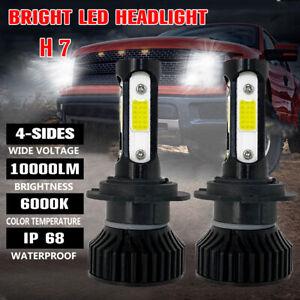 2pcs 4 lado H7 LED Faros 100W CSP Chip Bombilla Kit CANBUS  30000LM Blanco 6000K