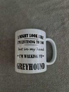 Greyhound owner mug