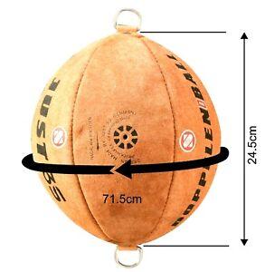 Just 3S Doppelendball aus Echtem Cowhide Leder Punchingball Speedball Boxbirne