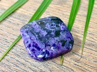 Charoite Palm Stone Worry Charoite Soap Stone Specimen Reiki Chakra Crystal.