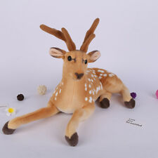 Simulation Sika Deer Plush Toy Animal Doll Photo Props Children Gift Ornaments
