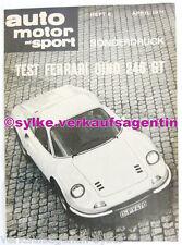 A154: Test Ferrari Dino 246 GT Heft 8 AMS 1971 - Automobilia, Brochure, Prospekt