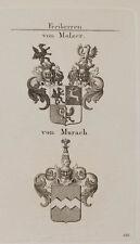 1847 Wappen Freiherren von Mulzer von Murach Kupfer von Tyroff Coat of Arms
