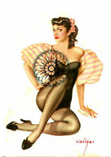 ALBERTO VARGAS, PIN UP REPRINT PICTURE, 6x4 FROM 1942 PLAYING CARD SET, PIC # 17