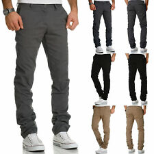 Herren Regular Slim Stretch Chino Hose Fit R7019