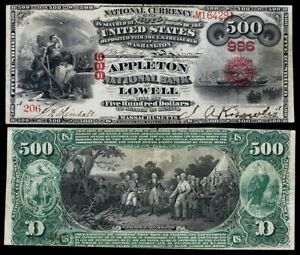 1875 $500 National currency note REPRODUCTION